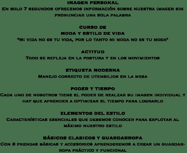 CURSO DE IMAGEN Y MODA